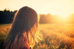 girl-hair-meadow-sunrise
